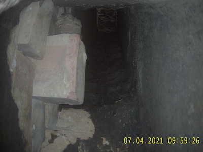 Protruded brick chimney2